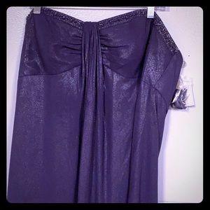 NWT David bridal brides maid dress purple